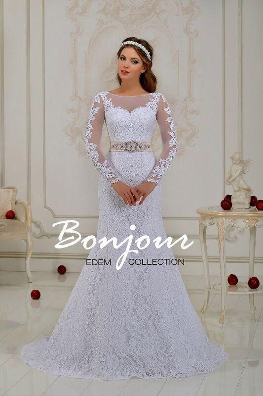 Свадебное платье напрокат Bonjour Платье свадебное «Ilana» из коллекции EDEM 2016 - фото 1