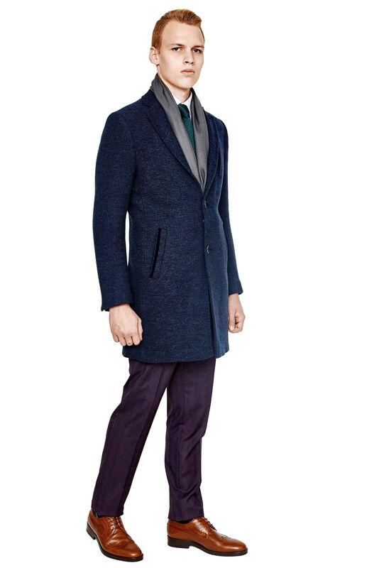 Верхняя одежда мужская HISTORIA Пальто мужское синее H01 - фото 1