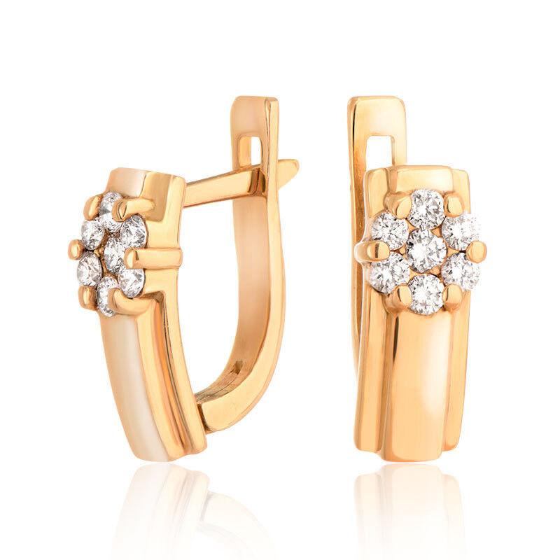 Ювелирный салон Jeweller Karat Серьги золотые с бриллиантами арт. 4223042 - фото 1