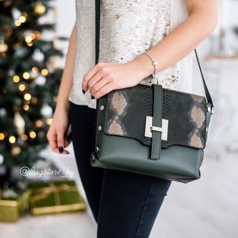 Магазин сумок Vezze Кожаная женская сумка C00423 - фото 2