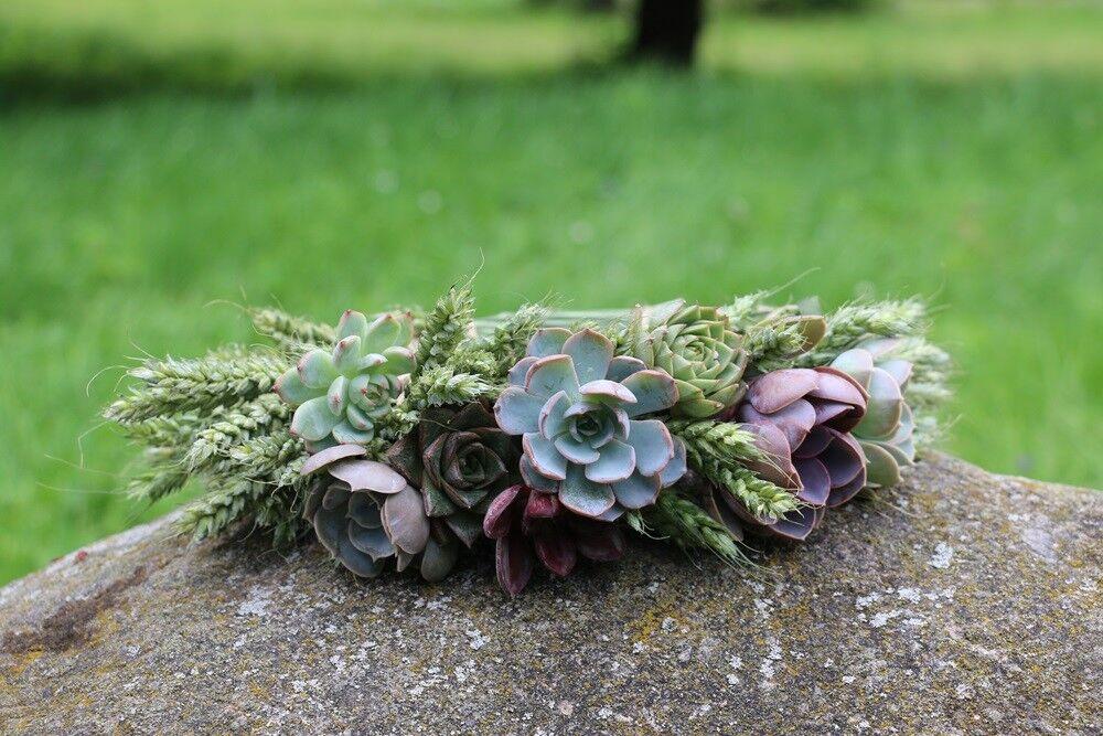Магазин цветов Stone Rose Венок с суккулентами - фото 1