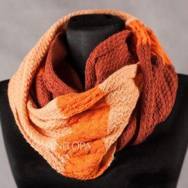 Шарф и платок PENELOPA Песочно-оранжевый снуд M18 - фото 1