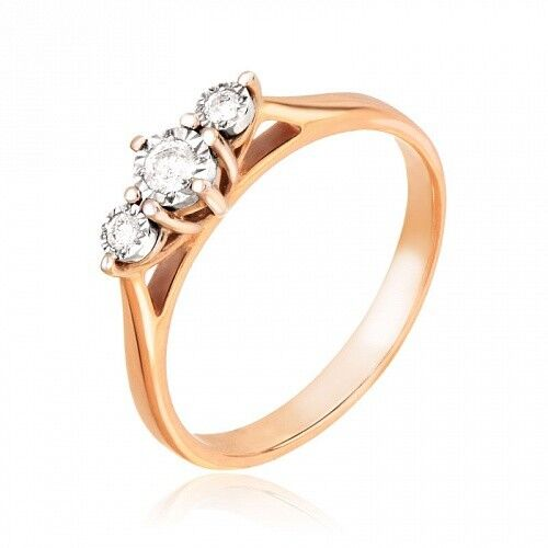 Ювелирный салон Jeweller Karat Кольцо золотое с бриллиантами арт. 3212474/9 - фото 1