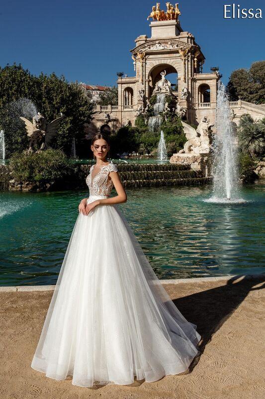 Свадебное платье напрокат Bonjour Платье свадебное «Elissa» из коллекции LA POESIE 2017 - фото 1