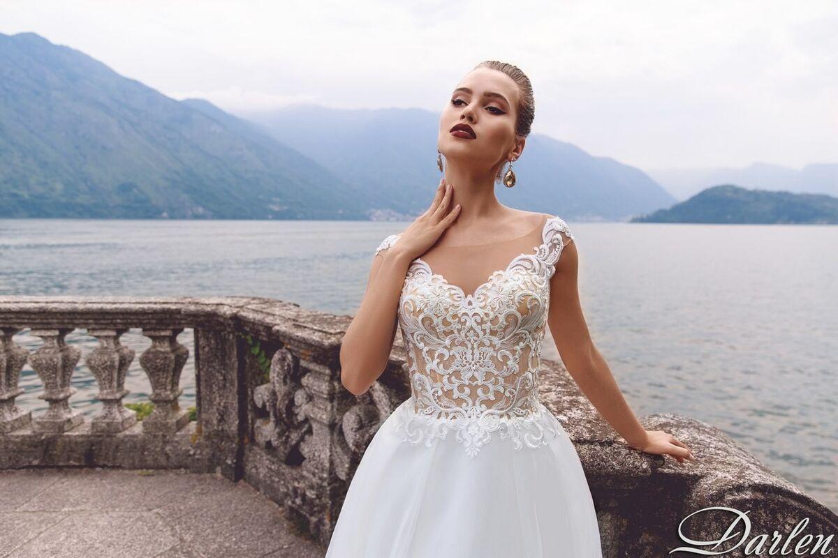 Свадебный салон Bonjour Galerie Свадебное платье Darlen из коллекции Royal Luxury - фото 3