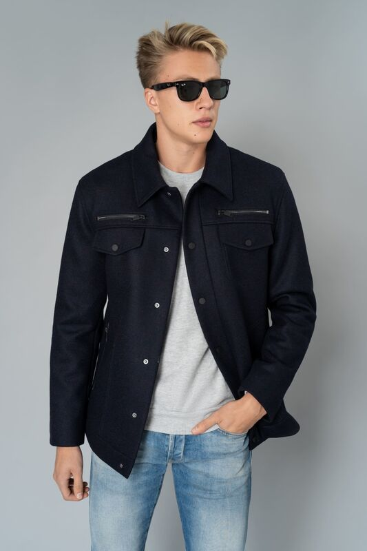 Верхняя одежда мужская Etelier Пальто мужское демисезонное 1М-9128-1 - фото 4