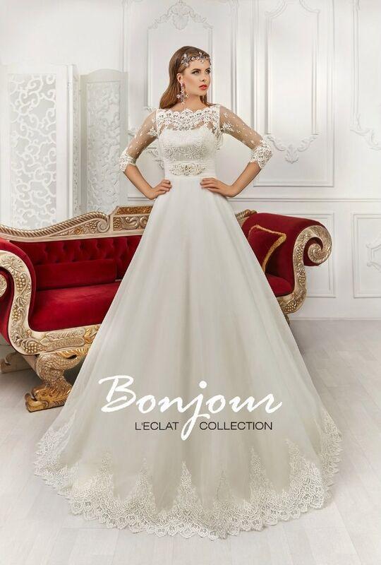 Свадебное платье напрокат Bonjour Платье свадебное «Judit» из коллекции L'ECLAT 2016 - фото 1