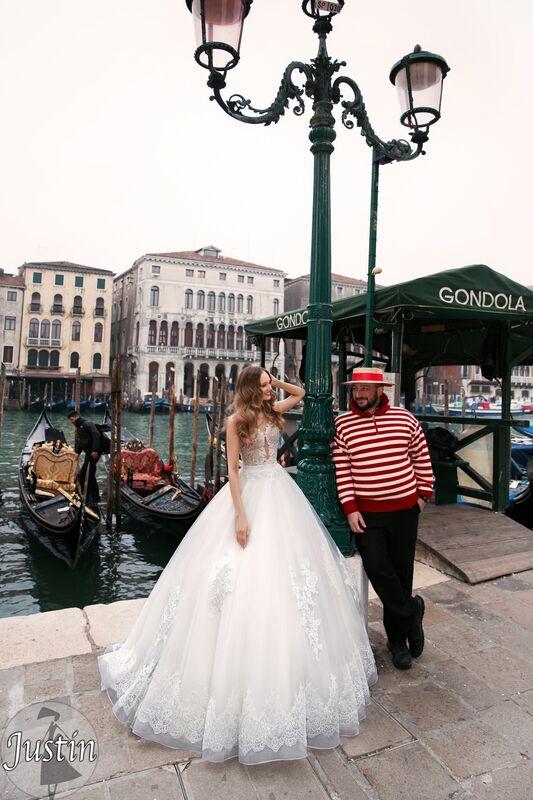Свадебное платье напрокат Bonjour Платье свадебное «Justin» из коллекции LE DELICE 2018 - фото 2