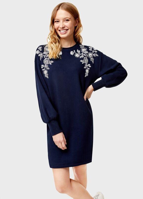 Платье женское O'stin Платье-толстовка с декором LT4U31-68 - фото 1