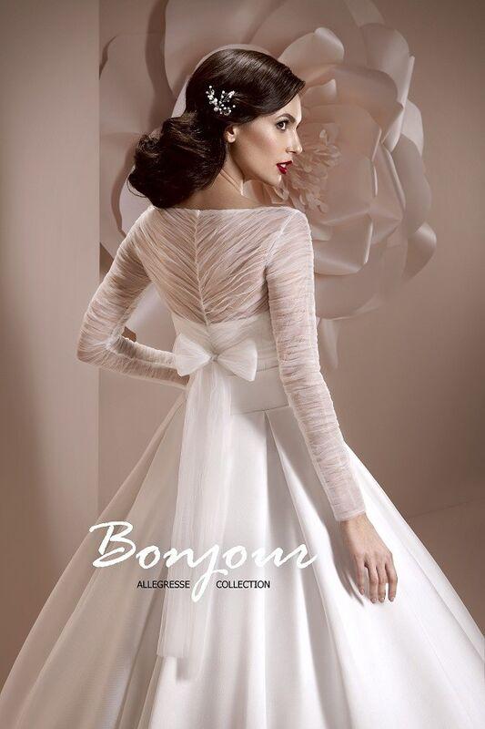 Свадебное платье напрокат Bonjour Платье свадебное «Kira» из коллекции ALLEGRESSE 2017 - фото 4