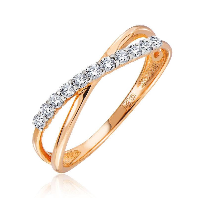 Ювелирный салон Jeweller Karat Золотое кольцо с бриллиантами арт. 3215983/9 - фото 1
