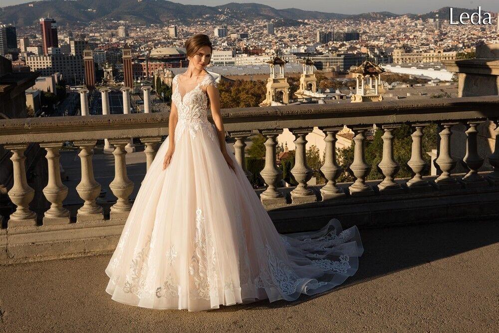 Свадебное платье напрокат Bonjour Платье свадебное «Leda» из коллекции LA POESIE 2017 - фото 2