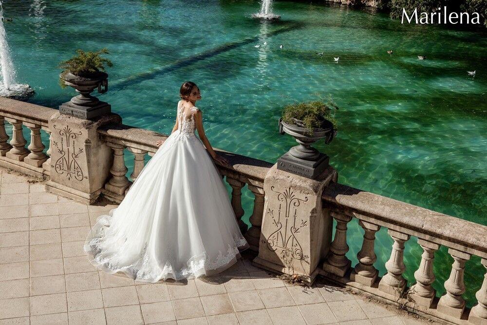 Свадебное платье напрокат Bonjour Платье свадебное «Marilena» из коллекции LA POESIE 2017 - фото 5