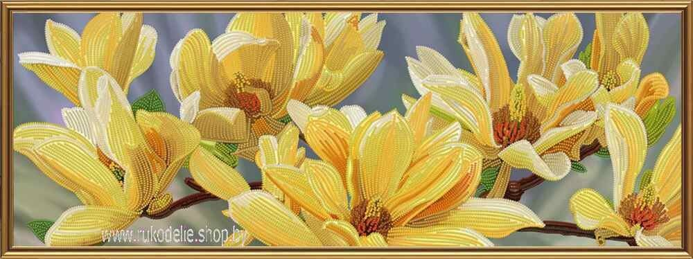 Товар для рукоделия Новая Слобода Набор для вышивания бисером «Золотая магнолия» ДК1087 - фото 1
