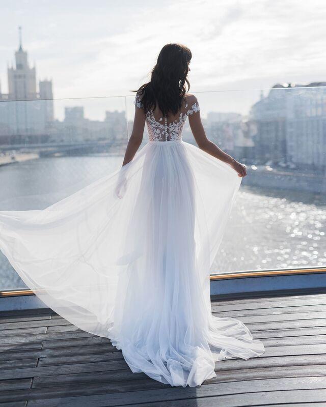 Свадебное платье напрокат Natalia Romanova Свадебное платье  Dzhina - фото 2