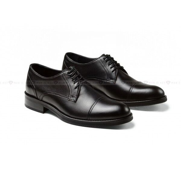 Обувь мужская Keyman Туфли мужские черные классические с декоративными строчками - фото 1