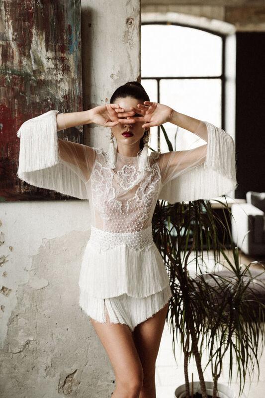 Вечернее платье Кураж Вечернее платье белое короткое - фото 1