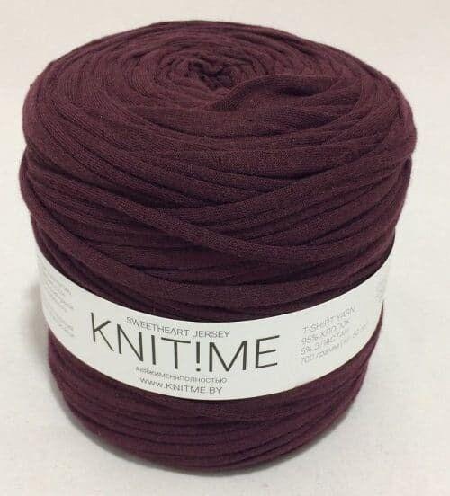 Товар для рукоделия Knit!Me Ленточная пряжа Sweetheart Jersey - Инжирный (SJ137) - фото 1