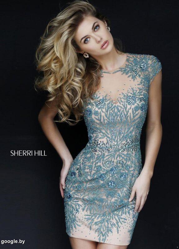 d3c10f48377 ... Вечернее платье Sherri Hill Короткое вечернее платье 1957 - фото 2 ...