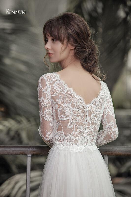 Свадебное платье напрокат Vintage Платье свадебное «Камилла» - фото 2