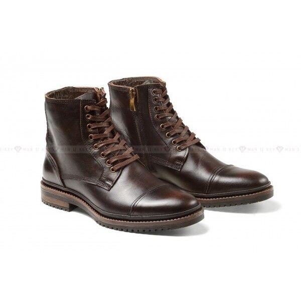 Обувь мужская Keyman Ботинки мужские темно-коричневые с декоративной прострочкой - фото 1