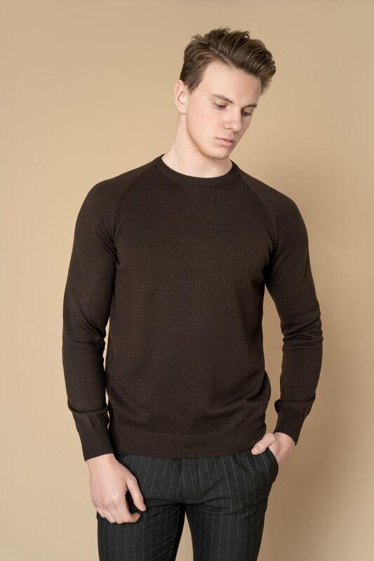 Кофта, рубашка, футболка мужская Etelier Джемпер мужской  tony montana T1031 - фото 4