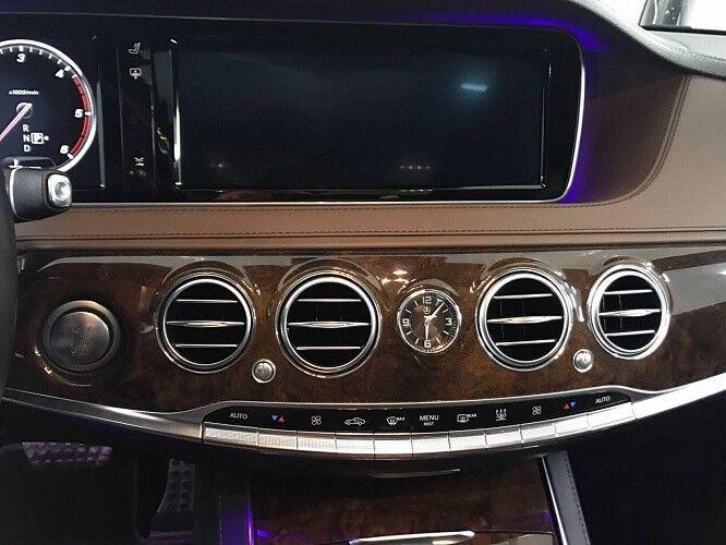 Прокат авто Mercedes-Benz W222 S-class черного цвета - фото 9
