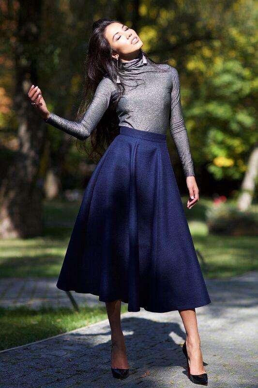 Кофта, блузка, футболка женская SL.IRA Серебристо серый гольф с люрексом - фото 1
