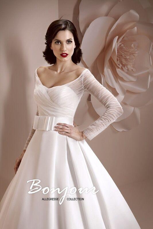 Свадебное платье напрокат Bonjour Платье свадебное «Kira» из коллекции ALLEGRESSE 2017 - фото 5