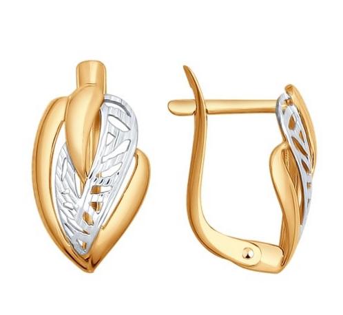 Ювелирный салон Sokolov Серьги из золота с алмазной гранью 027517 - фото 1