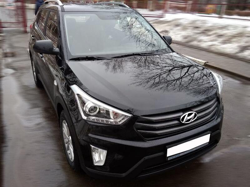 Прокат авто Hyundai Creta (2018 г.в, чёрный) - фото 2