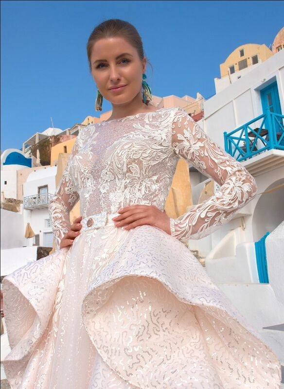 Свадебный салон Rafineza Свадебное платье Roberta со шлейфом - фото 2