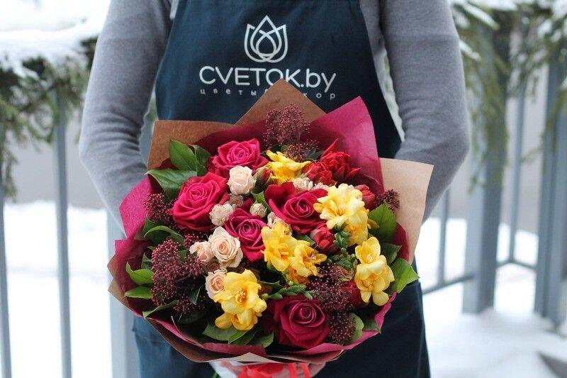 Магазин цветов Cvetok.by Букет «Яркая зима» - фото 1