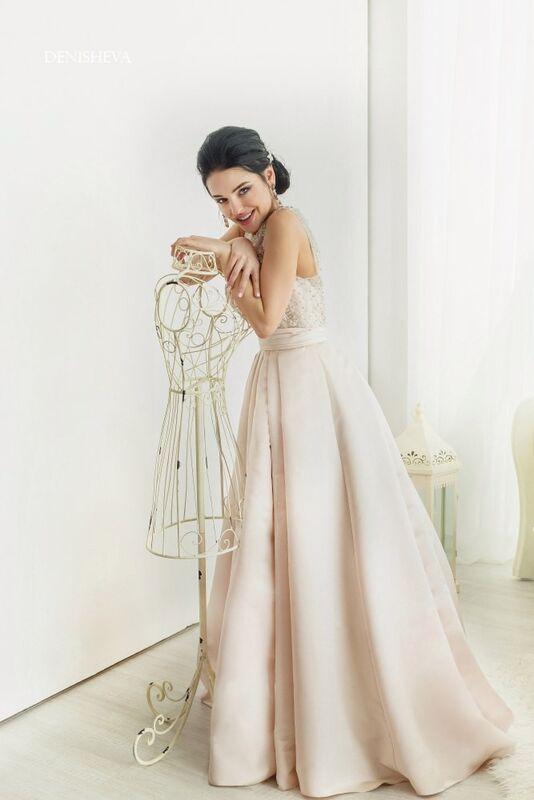 Свадебное платье напрокат La Festa Вечернее платье 115-3 - фото 6
