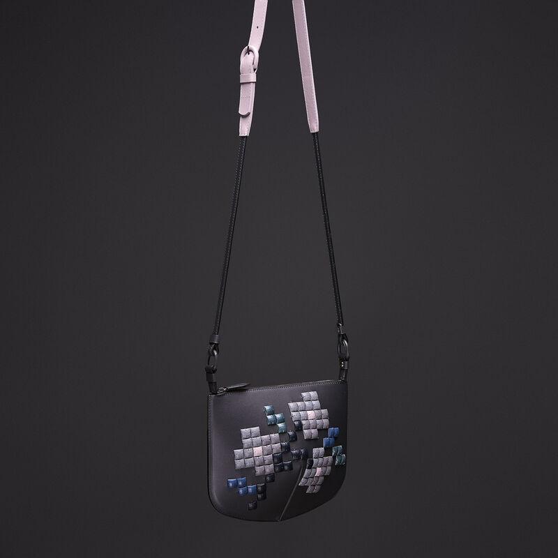 """Магазин сумок PANASKIN Сумка жен. """"Кроссбоди с камнями"""", серый - фото 1"""