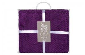 Подарок Ecotex Декоративный флисовый плед 150х200 Elegance Фиолетовый - фото 4