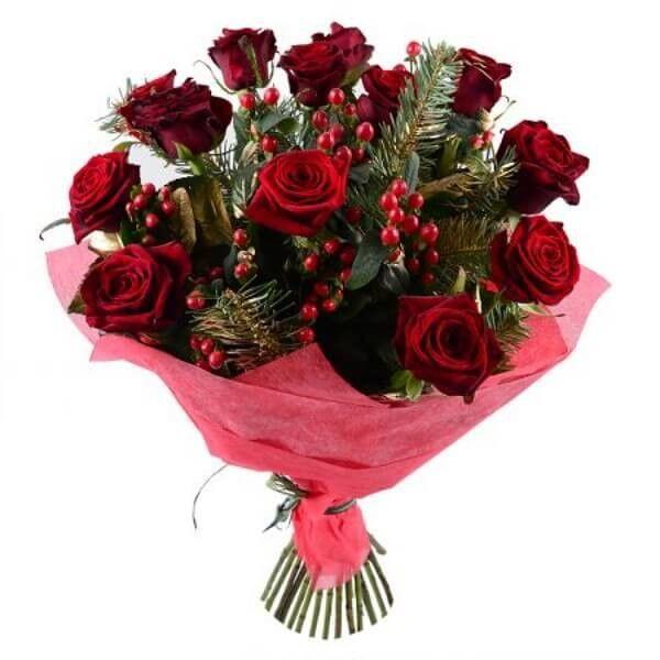 Магазин цветов Букетная Букет «Новогоднее Поздравление» - фото 1
