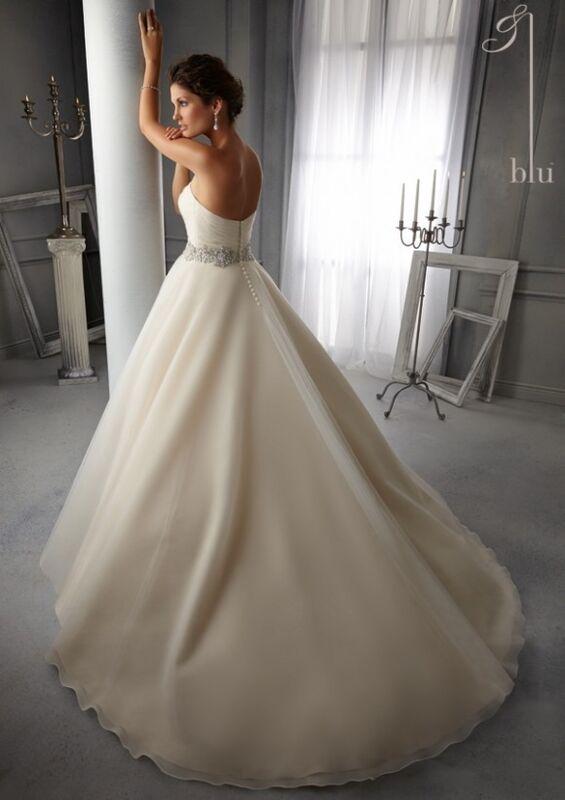 Свадебное платье напрокат Mori Lee Платье свадебное Blu 5276 - фото 2
