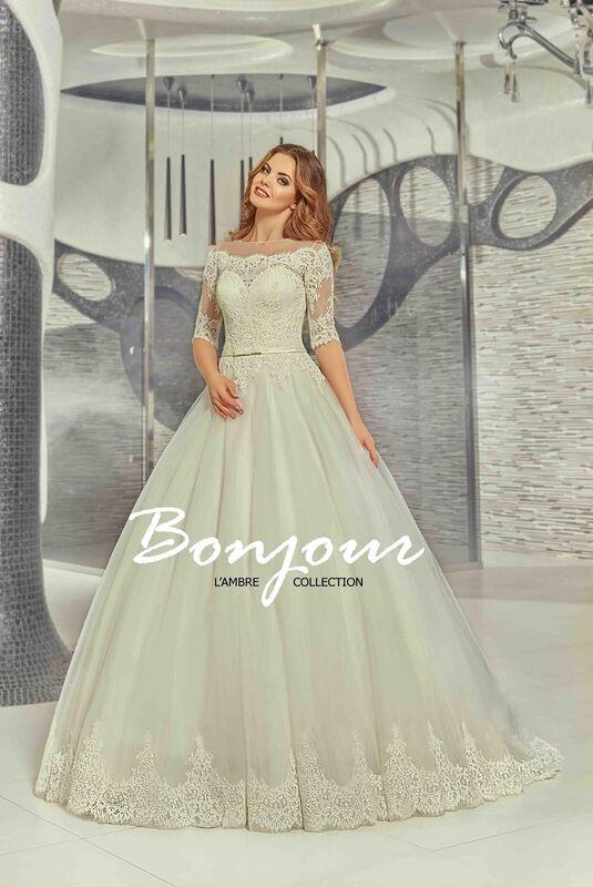 Свадебное платье напрокат Bonjour Платье свадебное «Iren» из коллекции LAMBRE 2017 - фото 1