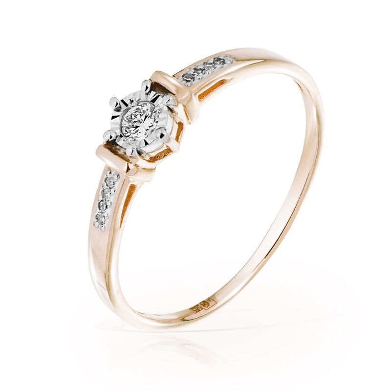 Ювелирный салон Jeweller Karat Кольцо золотое с бриллиантами арт. 3214658/9 - фото 1