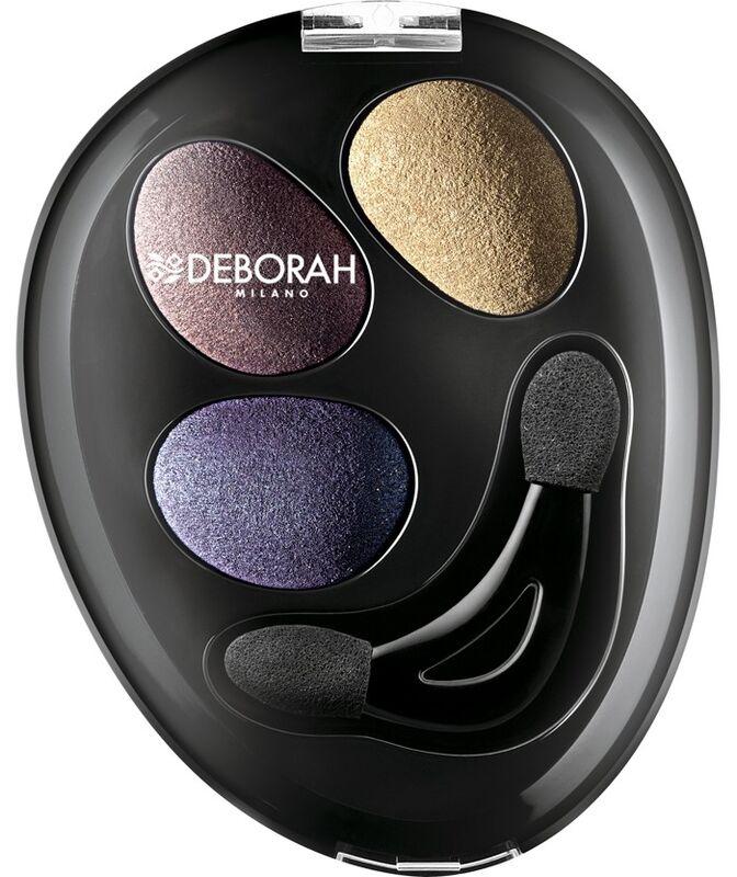 Декоративная косметика Deborah Milano Тени для век Trio Hi-Tech - 08 Eyeshadow (backed powder) OLD - фото 1