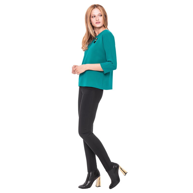 Кофта, блузка, футболка женская L'AF Блузка Claret 14CL (бирюзовая) - фото 1