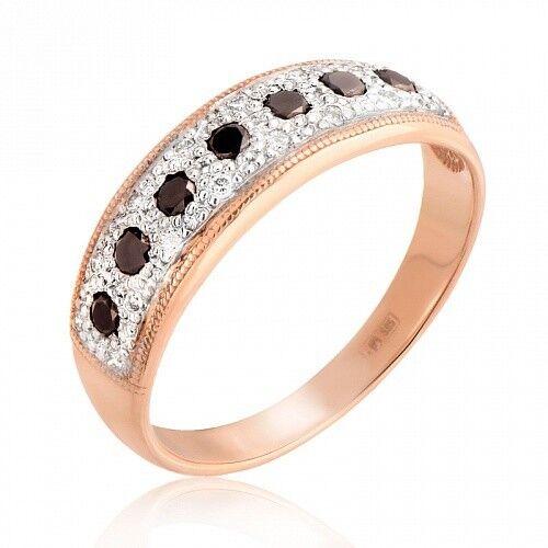 Ювелирный салон Jeweller Karat Кольцо золотое с бриллиантами арт. 1211525/1ч - фото 1