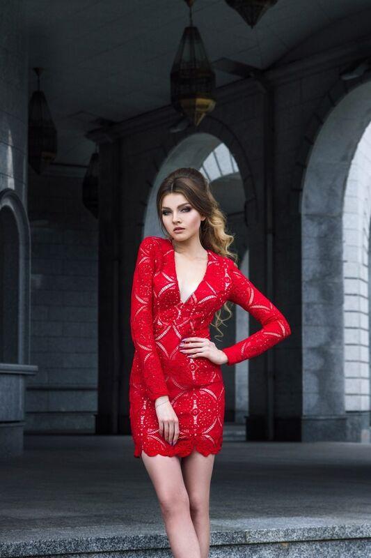 Вечернее платье Shkafpodrugi Эффектное  платье из кружева - фото 2