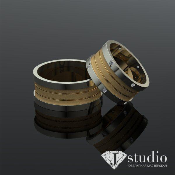 Ювелирный салон jstudio Кольцо с камнями обручальное  Ю-053 - фото 2
