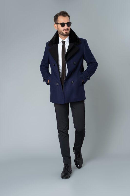 Верхняя одежда мужская Etelier Пальто мужское демисезонное 1М-9487-1 - фото 1