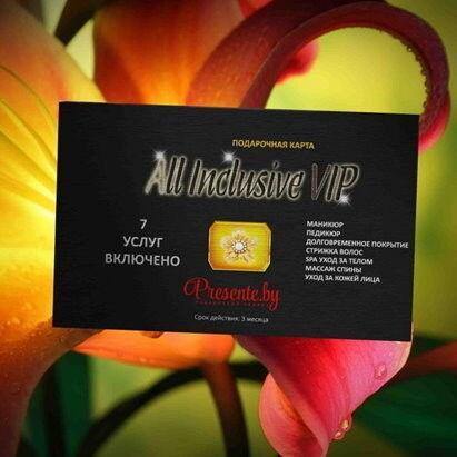 Магазин подарочных сертификатов Egoist&ka Подарочный набор «All Inclusivе VIP» (7 услуг включено) - фото 1