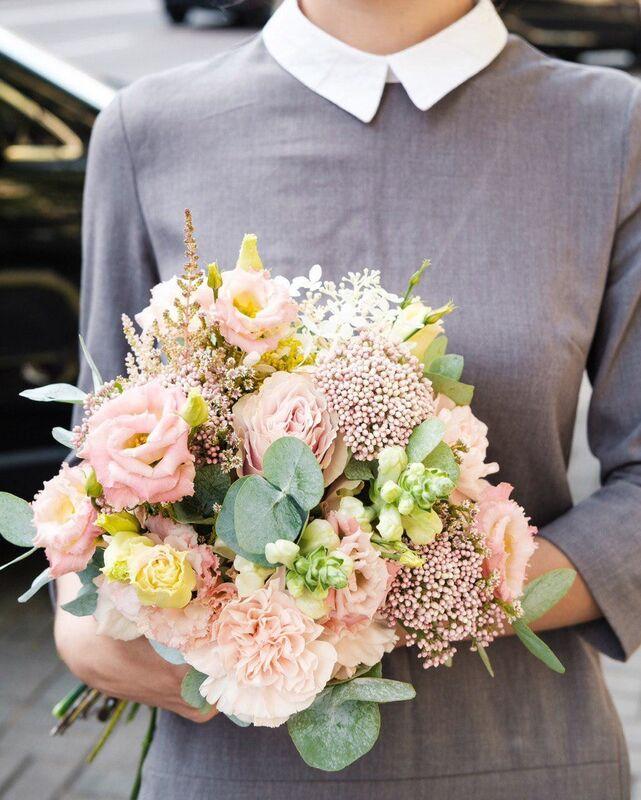 Магазин цветов Цветы на Киселева Букет «Крем-брюле» - фото 1