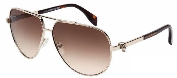 Очки Alexander McQueen Солнцезащитные очки  AM0018S-002. - фото 1
