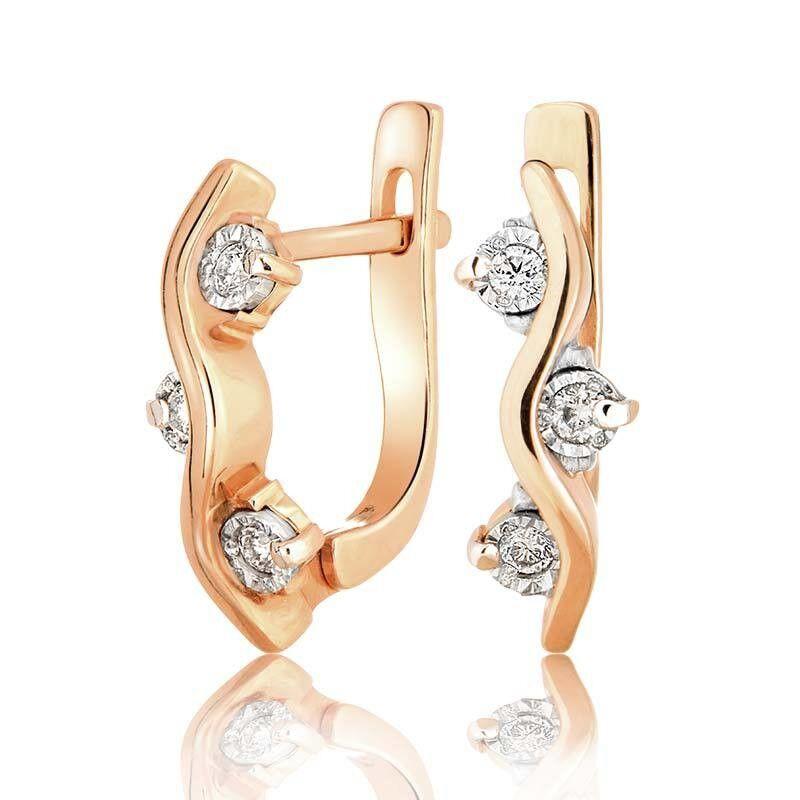 Ювелирный салон Jeweller Karat Серьги золотые с бриллиантами арт. 3223808/9 - фото 1